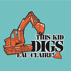 My Local Puzzles Puzzle - This Kid Digs Eau Claire! (Flat)