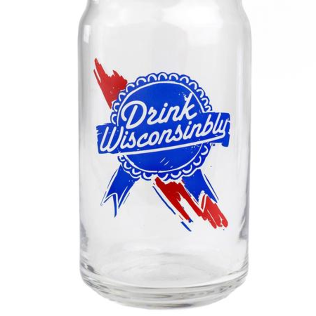 Drink Wisconsinbly Beer Can Glass - Drink Wisconsinbly