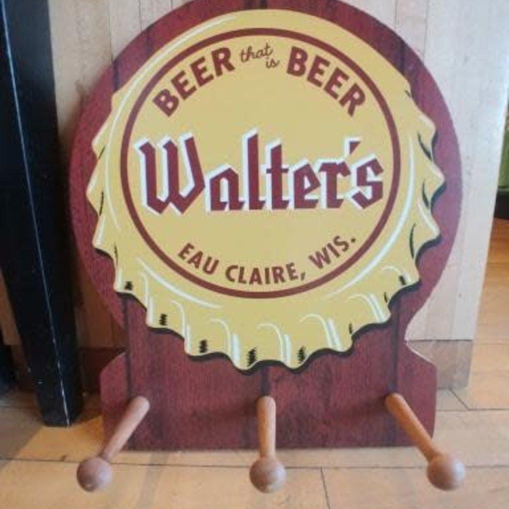 Musky Bum Lodge Walters Beer Coat Rack, Beer Cap