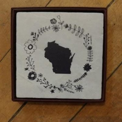Volume One Marble Coaster - Wisconsin Flower