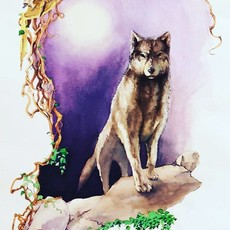 Mike Gehrke Wolf Print (Large)