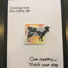Cari Raynae Cow Greeting Card