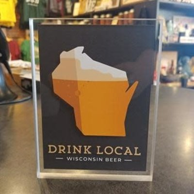 Artovision Small Dekstop Shadowbox Art - Drink Local