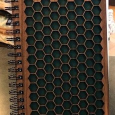 Woodchuck Wood Spiral Journal - Honeycomb