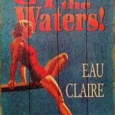 Volume One Come Test the Waters - Eau Claire - Wooden Sign