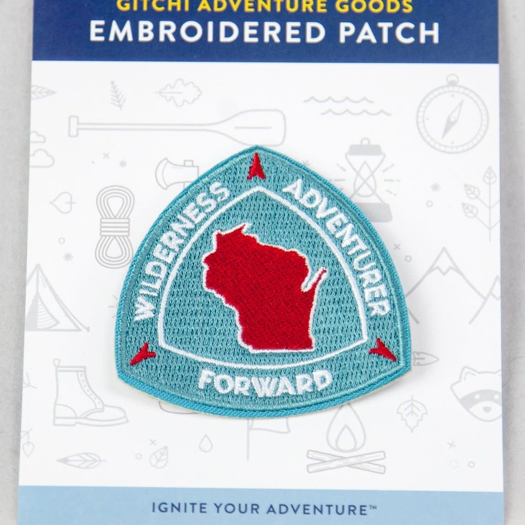 Gitchi Adventure Goods Gitchi Embroidered Wisconsin Patch
