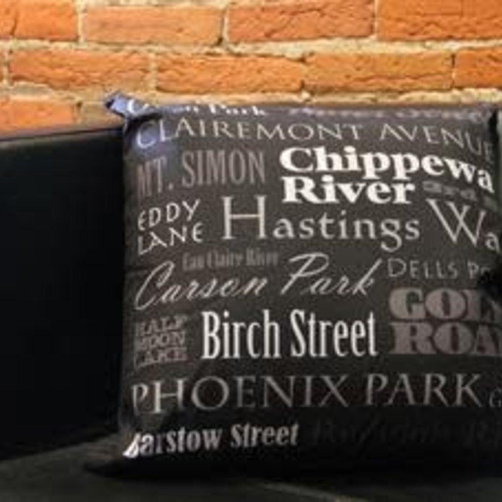 Volume One Streets & Landmarks Pillow - 18x18