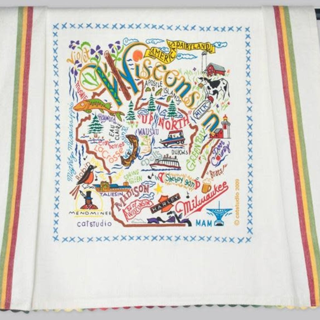 Volume One WI Embroidered Towel