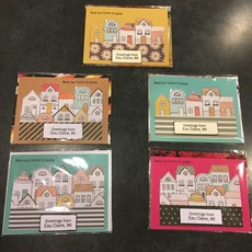 Cari Raynae Houses Greeting Card