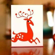 Man vs. George Designs (WI) Greeting Card - Scandinavian Reindeer