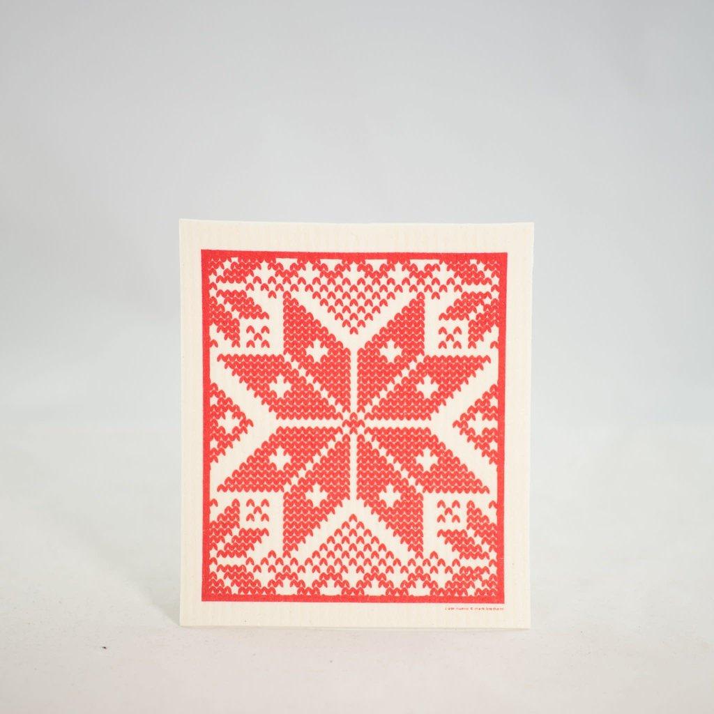 Volume One Swedish Dishcloth - Selbu - Red