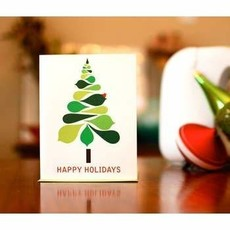 Man vs. George Designs (WI) Greeting Card - Mod Christmas Tree
