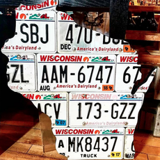 Chris Staack Wisconsin License Plate Sign - Large