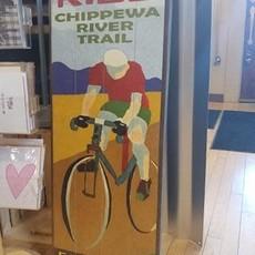 Volume One Wood Sign - Chippewa River Trail - Bike/Ride (14X36)
