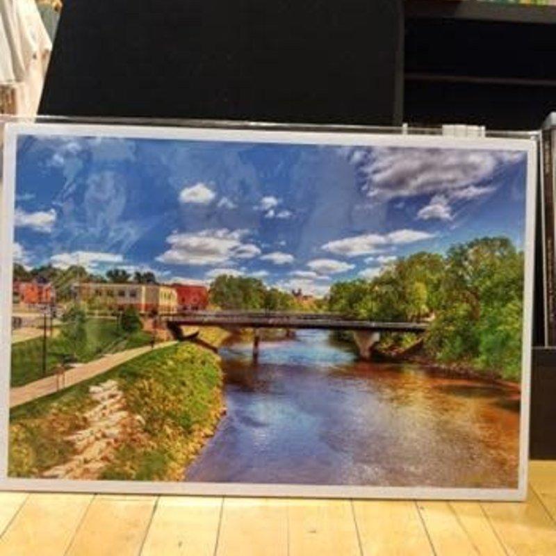 Lloyd Fleig Eau Claire River Bridges Print