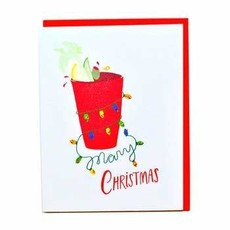 Cracked Designs Greeting Card - Bloody Mary Christmas