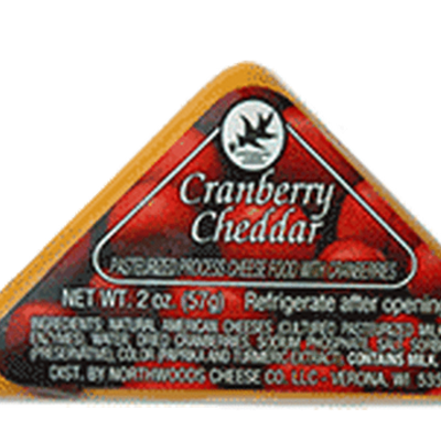 Northwoods Cheese Company Northwoods Cheese - Cranberry Cheddar Triangle (2oz)