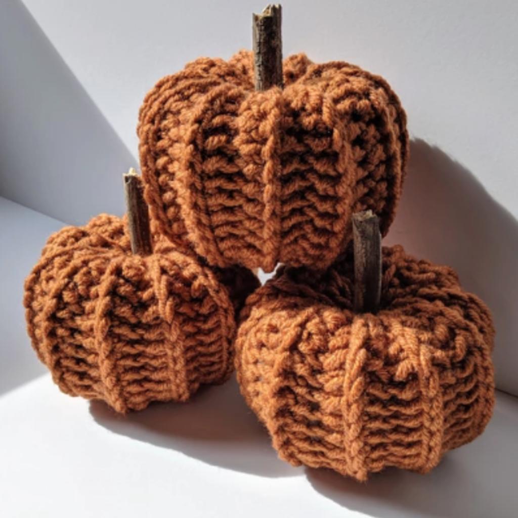 LameMaker Crochet Pumpkins (Orange)