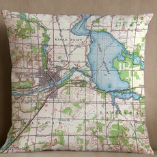 Volume One Chippewa Falls Map Pillow