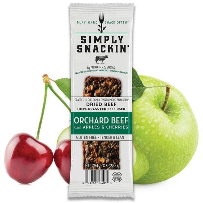 Simply Snackin' Protein Jerky Snack - Orchard Beef