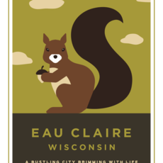 Volume One Eau Claire Animal Series Print - Squirrel