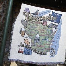 Pure Country WI State Tapestry Throw
