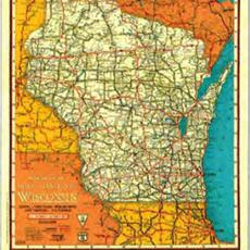 Volume One Vintage WI Road Map (1930)