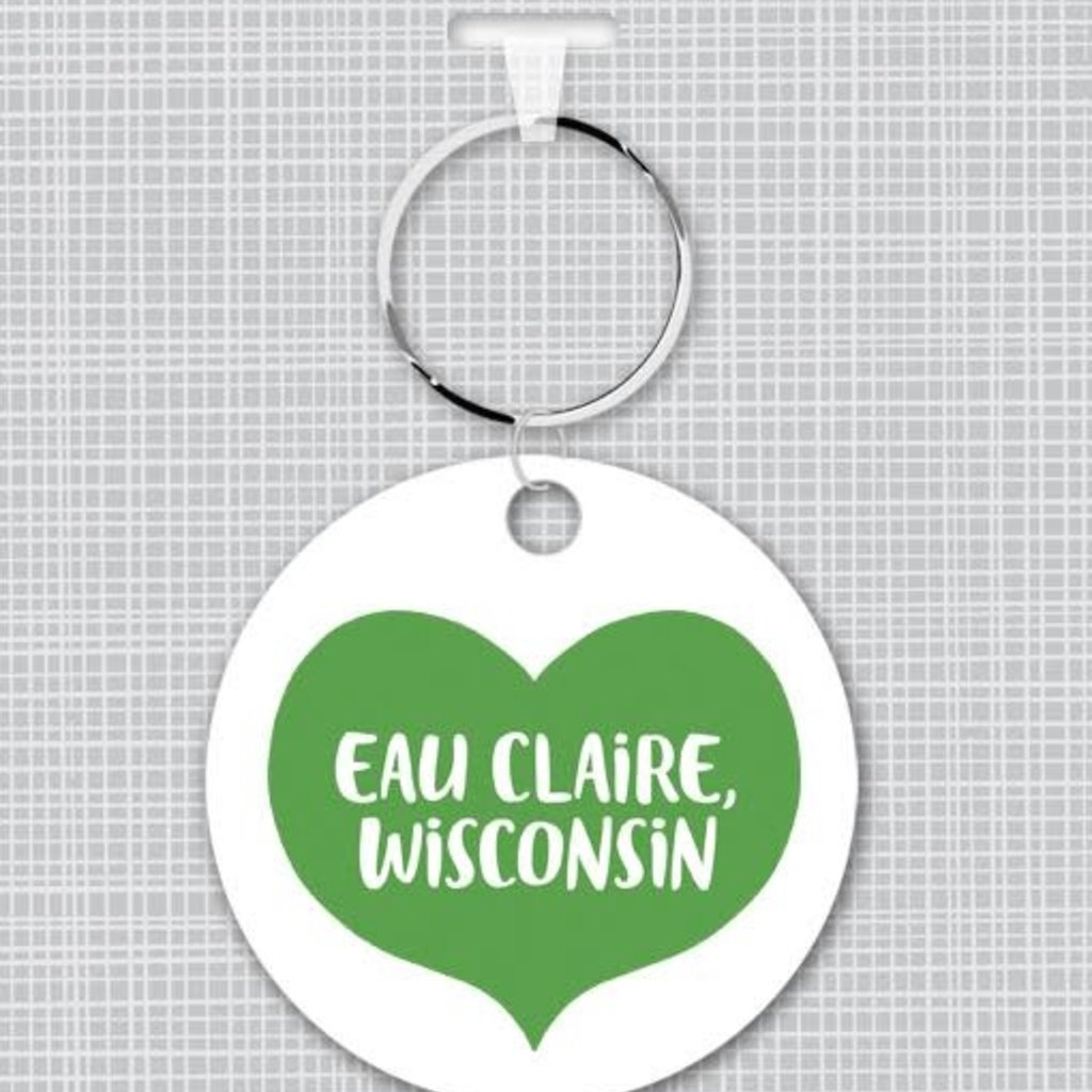 Volume One Key Fob - Eau Claire Heart (Green)