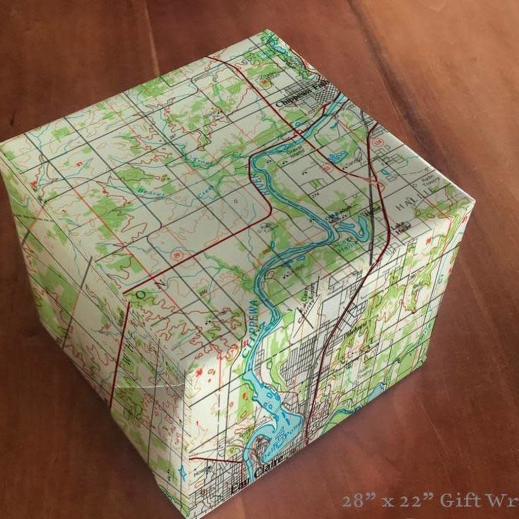 Volume One Wrapping Paper - Eau Claire Map