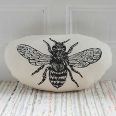 Volume One Pillow - Honeybee (Black)