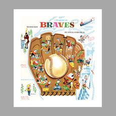 Artovision Vintage Braves Print