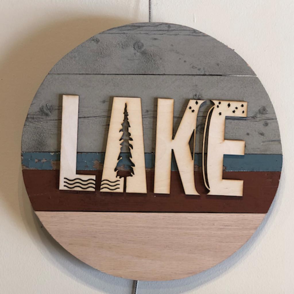 Wood Sign - Lake
