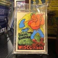Artovision Small Desktop Shadowbox Art - Paul Bunyan
