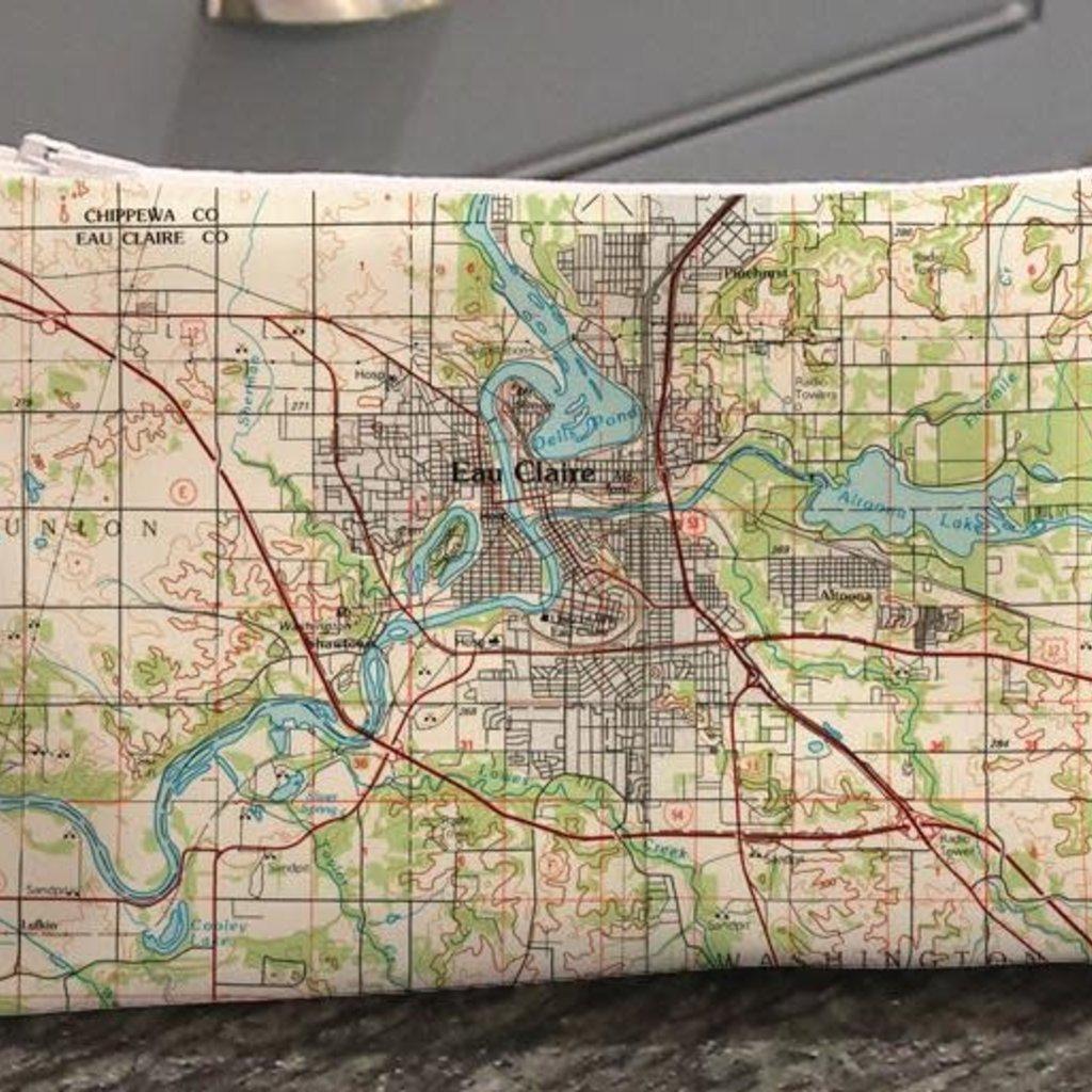 Volume One Zip Pouch - Eau Claire Map