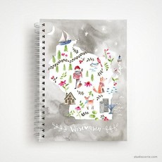 StudioCarrie Wisconsin Collage Spiral Notebook