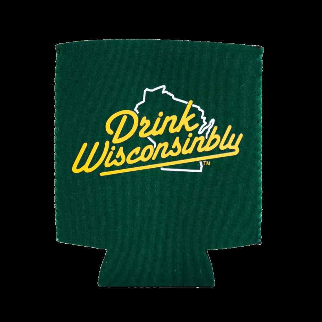 Drink Wisconsinbly Koozie - Drink Wisconsinbly (Green)