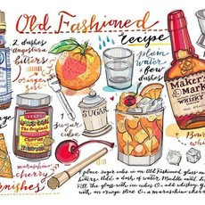 LouPaper Old Fashioned Print Horizontal (11X14)