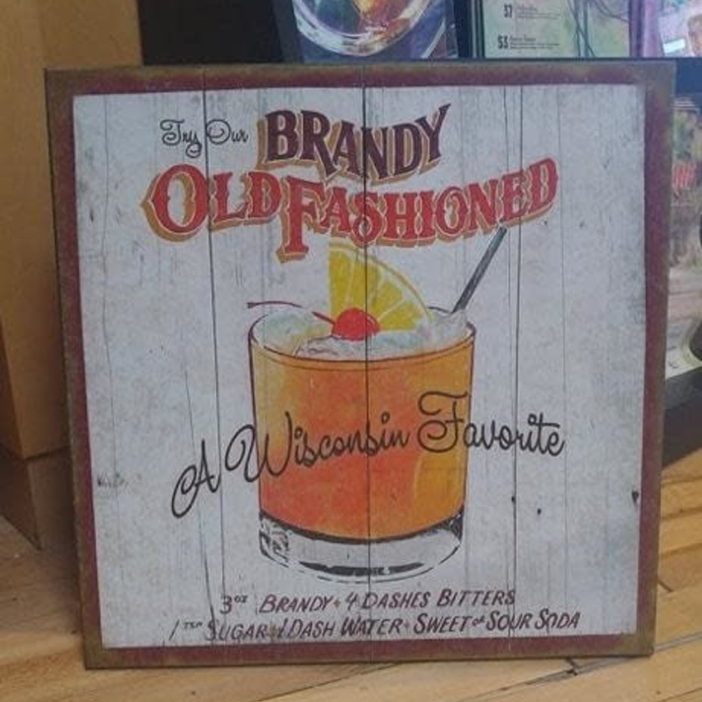 Volume One Old Fashion Wood Sign 18X18