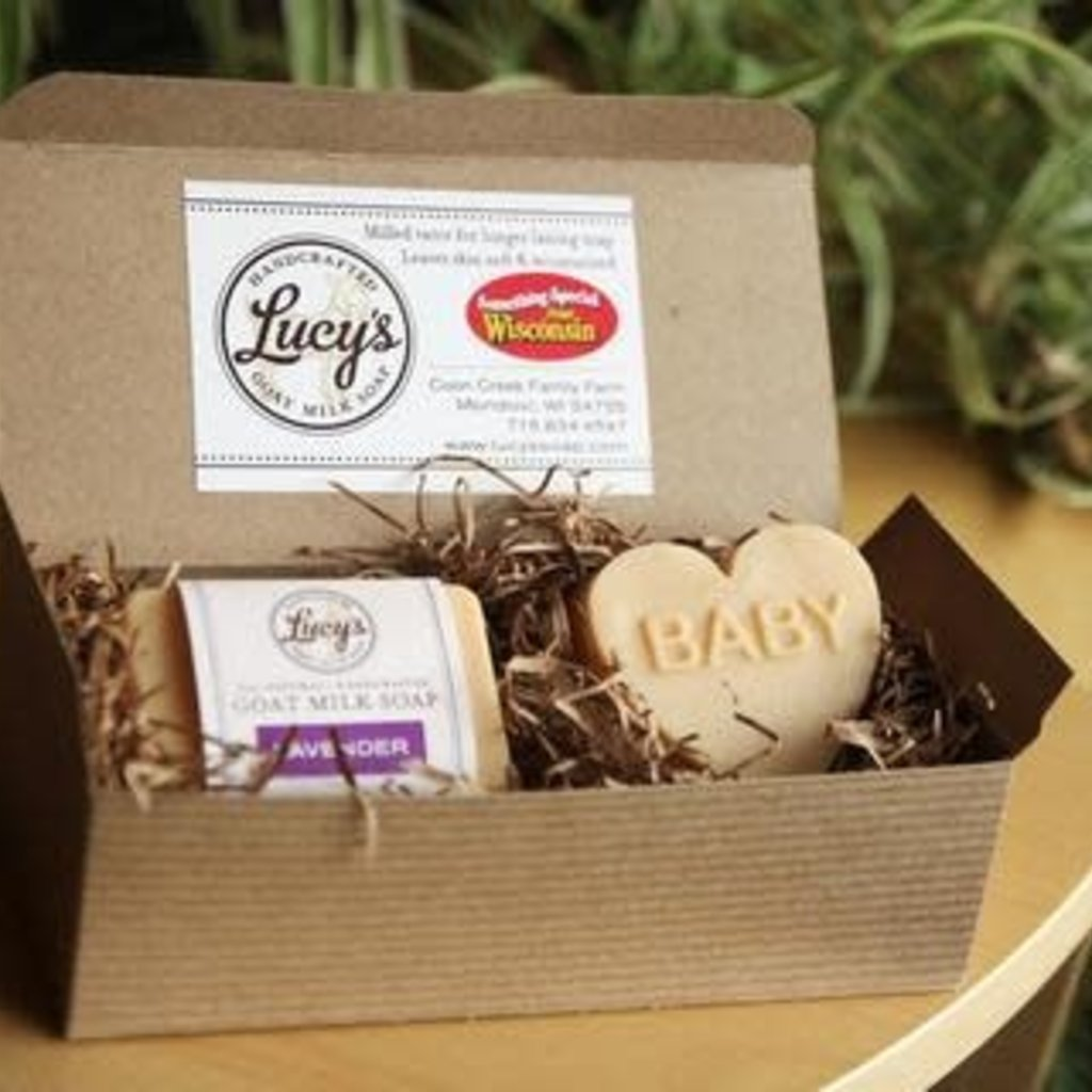 Lucy's Goat Milk Soap Lucy's Goat Milk Soap - Baby & Handbar Boxed Set