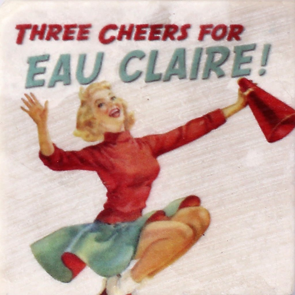 Volume One Marble Coaster - Three Cheers for Eau Claire