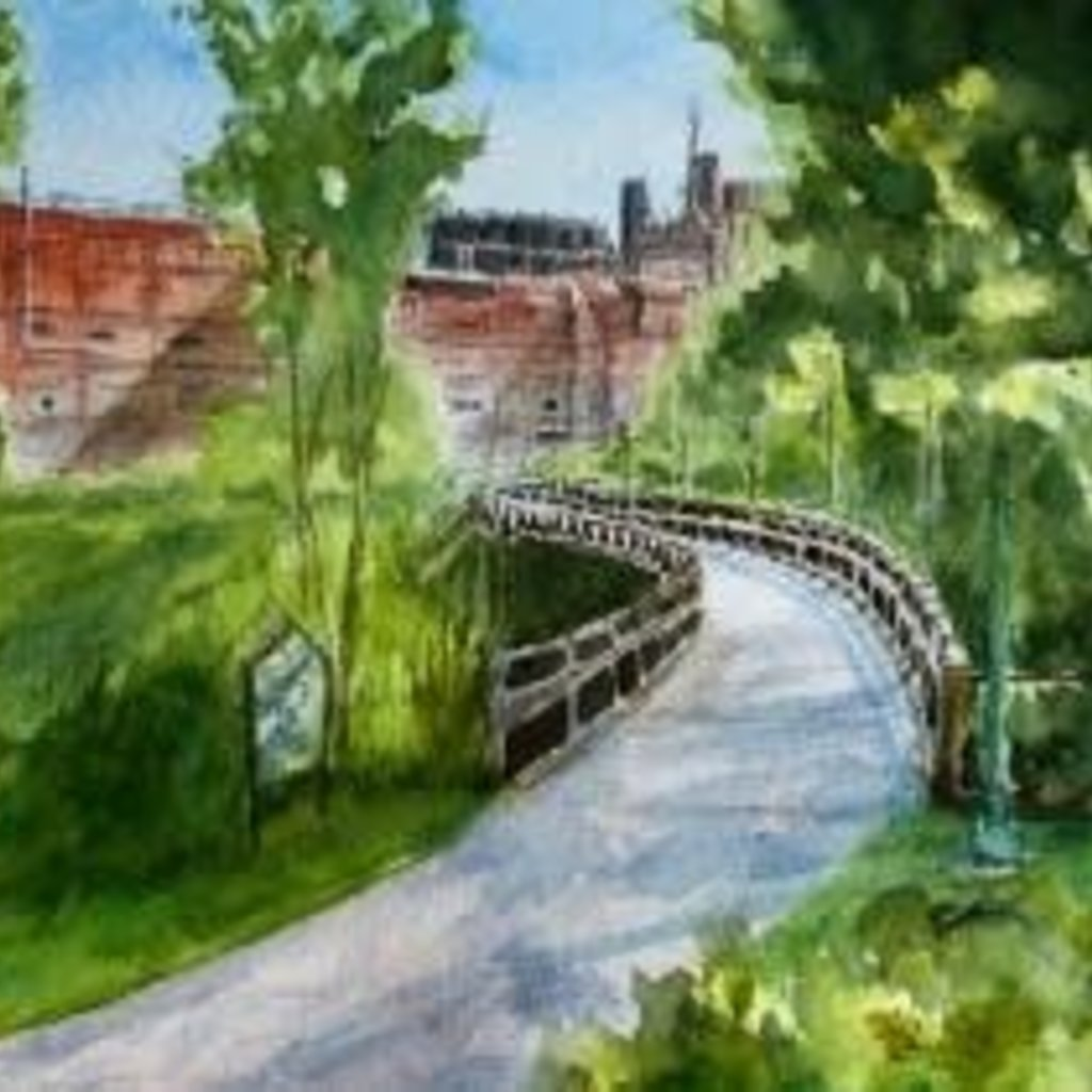 "Amy Beidleman Soo Line ""S"" Bridge Greeting Card"