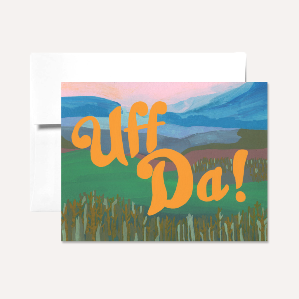 Persika Design Uff Da Greeting Card