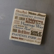 Volume One Marble Magnet - Eau Claire Streets & Landmarks
