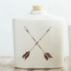 Tandem Ceramics Ceramic Flask - X Arrows