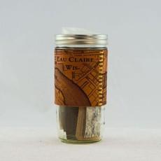 Tactile Craftworks Leather Travel Mug - Eau Claire Map (24 oz.)