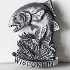 Volume One WI Pewter Fish Magnet