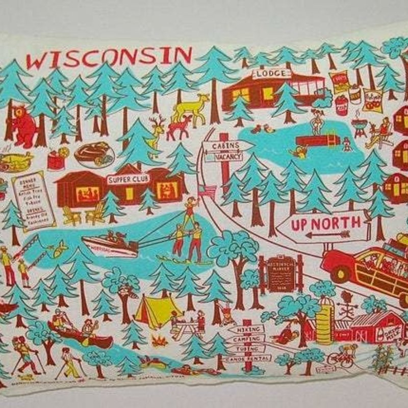 HANmade Milwaukee Wisconsin Up North Pillow
