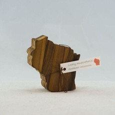 Volume One Wisconsin Wood Coaster Set - Walnut (Dark)