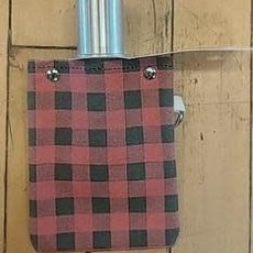 Volume One Canvas Flask - Red Plaid 4oz