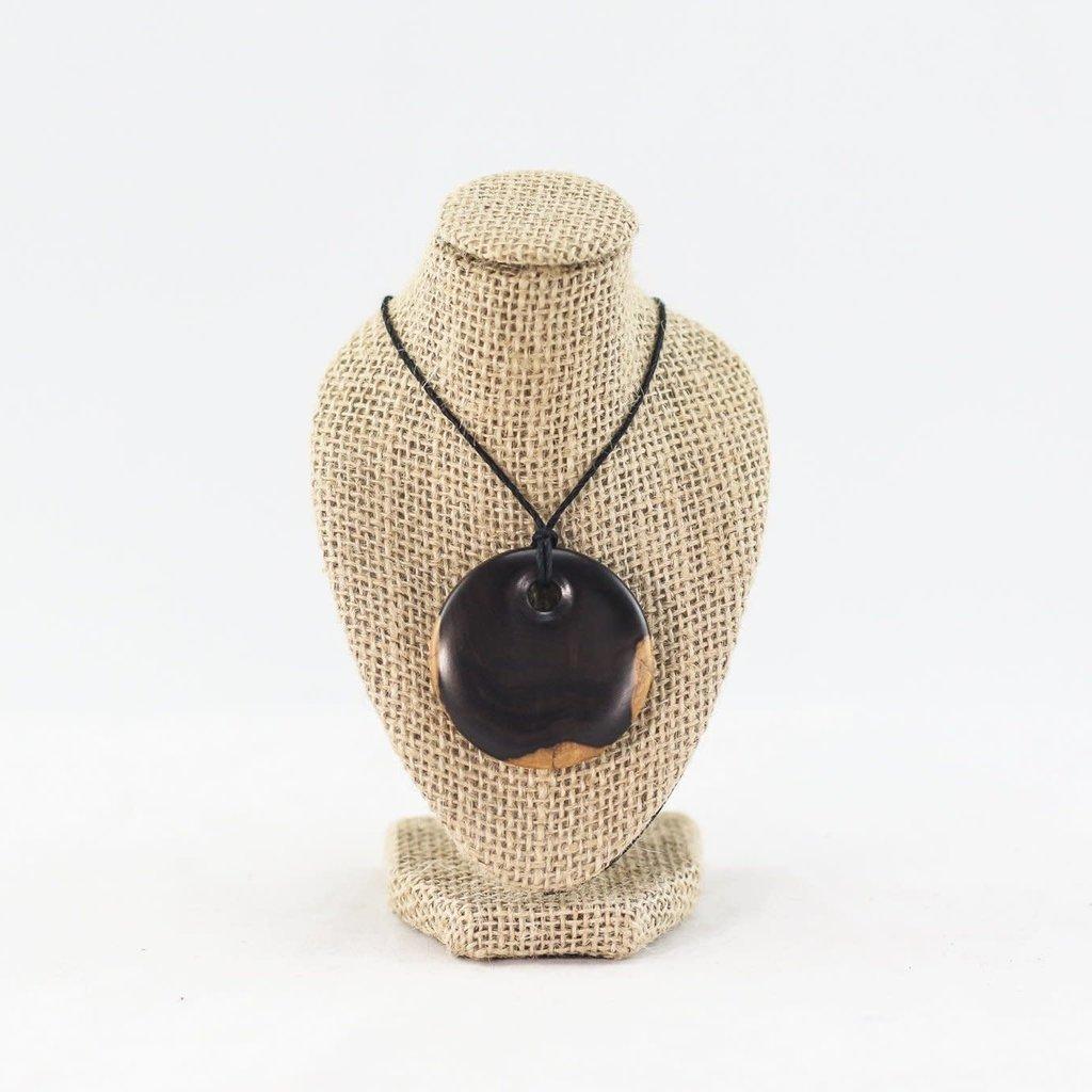 Richard Ryan Wood Turned Pendant Necklace